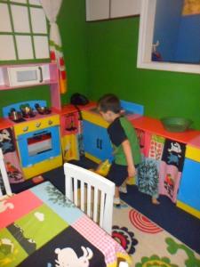 Kitchen area- vacuuming