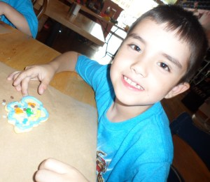 Connor's completed cookie! The 2nd one.
