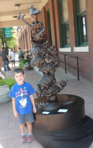This is the first statue we took a picture with…Yertle the Turtle by the Grace Museum.