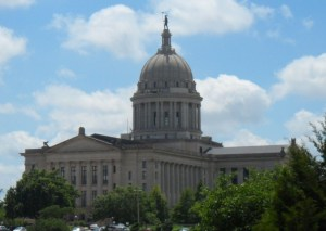 This is a view of the Capital from the History Center.