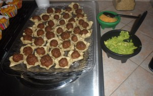 I described these as mini tacos but I think mini chalupas might be more appropriate.