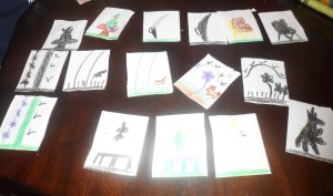 This is the completed set of cards.