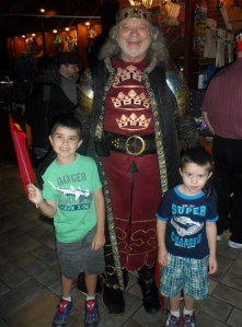 The boys with the king