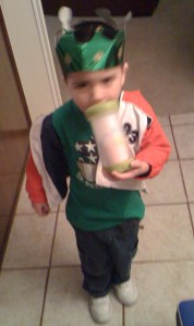 It was St. Patrick's Day, this was his outfit.