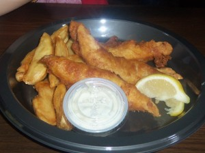 They also had fish and chips.