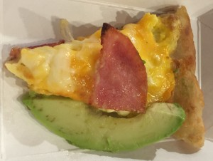 The first one was the Green Eggs and Ham.  This one has eggs, ham, cheese, and avocado. It was very good. JT loved it.