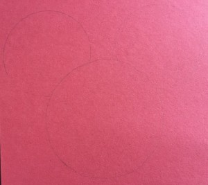 I'm not sure if you can see it that well since the pencil is very light but you can see how the ear circles overlapped.