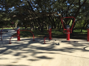 There is also a fitness area right next to the playground.