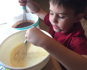 JT wanted to stir both puddings at the same time.