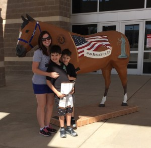 This is the last Hoof Prints horse I'm going to put up here. His name is Justice and he is one of the horses that is part of Hoof Prints but not located in Amarillo. You can find Justice in Canyon, Texas at the Randall Country Justice Center.