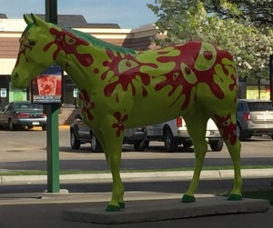 This horse called Cherry Lime was at a Sonic.