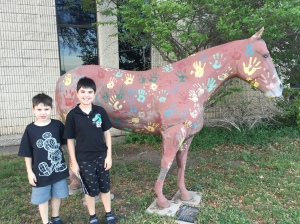 Here is America's Horse-America's Future. This one was at the Amarillo ISD.