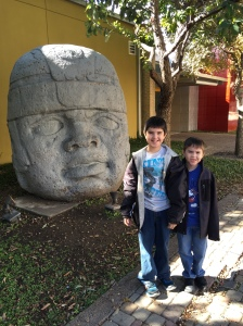 Connor and JT at Hemisfair Park.