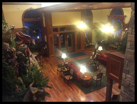 Here's a view of the lobby from the 2nd floor. Sorry about the lights. I had trouble with a lot of my pictures.