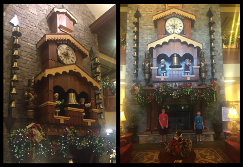 The Glockenspiel plays Christmas carols on the hour during the day.