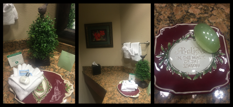 I loved that even the bathrooms were nicely decorated.